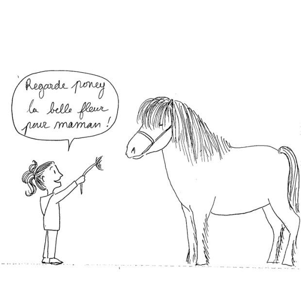 fleur à poney