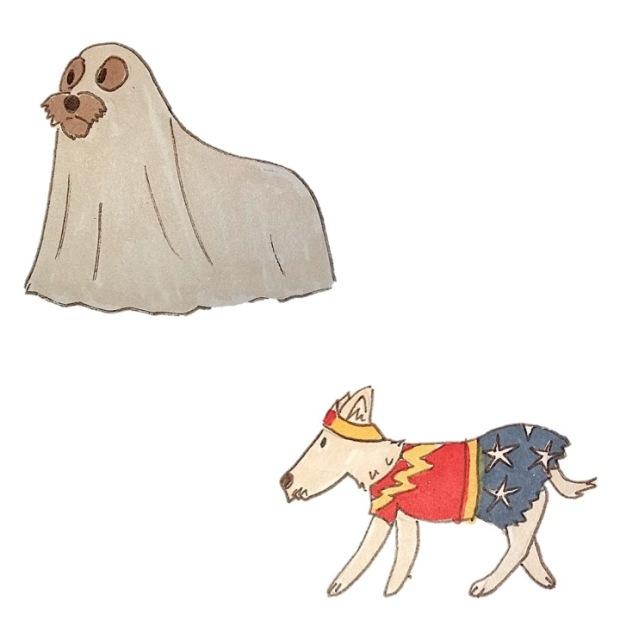 chien halloween 2